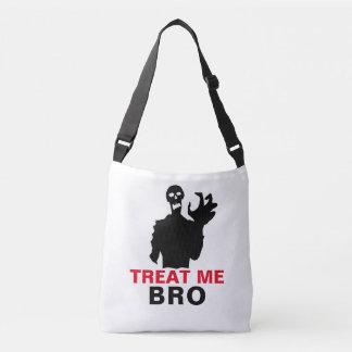 O zombi trata-me Dia das Bruxas engraçado de Bro Bolsa Ajustável