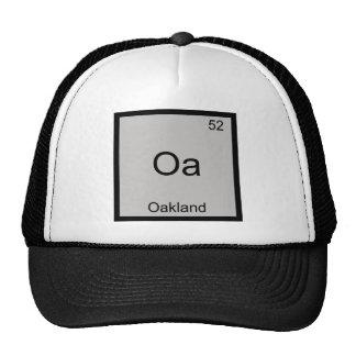 Oa - T-shirt do símbolo do elemento da química da Bonés