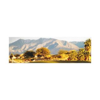 Oásis do deserto impressão de canvas envolvida