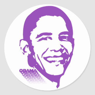 Obama 001 adesivos redondos
