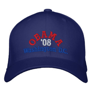 Obama '08 Washington C.C. Chapéu Boné Bordado