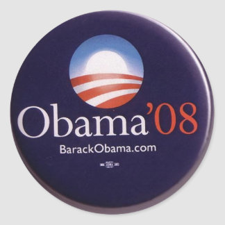 Obama 2008 adesivos redondos