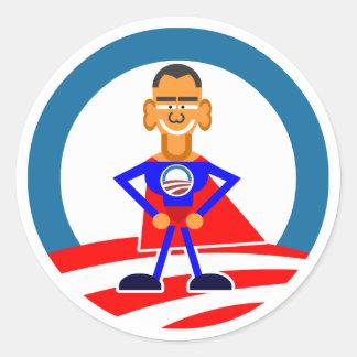 Obama 2012 adesivos em formato redondos