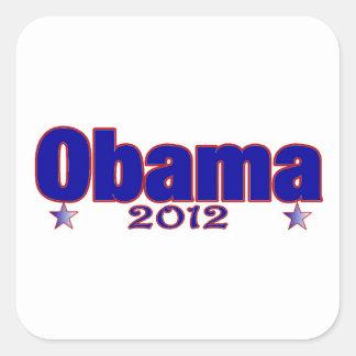 Obama 2012 adesivo em forma quadrada
