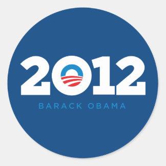 Obama 2012 adesivos redondos