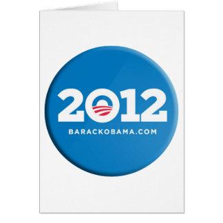 Obama 2012 cartão comemorativo