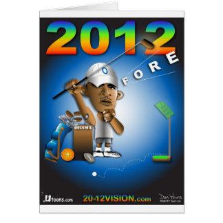 Obama 2012 dianteiro cartão comemorativo