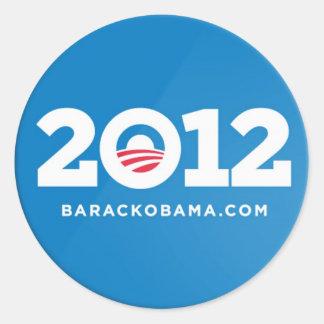Obama 2012 etiquetas adesivos redondos
