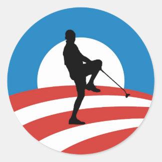 Obama 2014 excursões da vitória adesivo em formato redondo