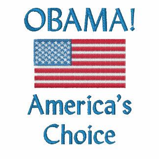 Obama! A escolha de América Camiseta Bordada Polo