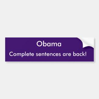 Obama - as frases completas estão para trás! adesivo para carro