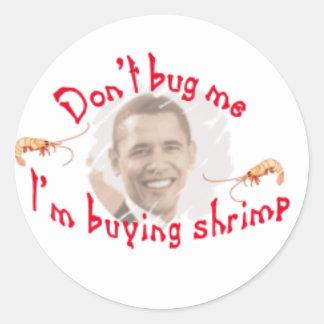 obama adesivo em formato redondo