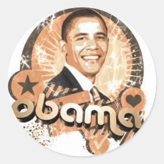Obama Adesivo Redondo