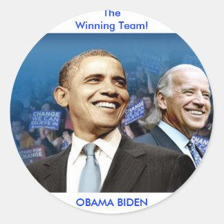 Obama Biden Adesivo Redondo