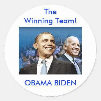 Obama Biden Adesivos Em Formato Redondos