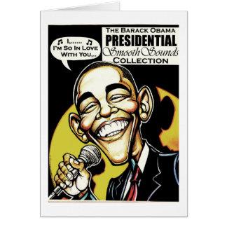 Obama canta! Cartão