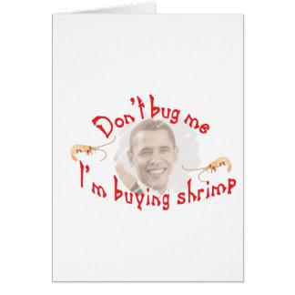 obama cartão comemorativo