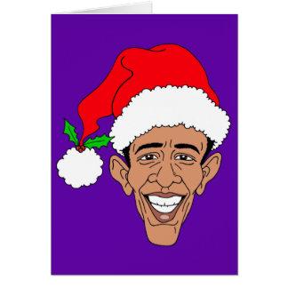 Obama Claus Cartão Comemorativo