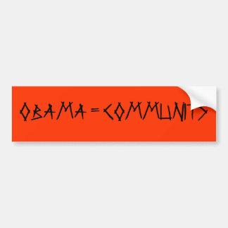 OBAMA = COMMUNITS ADESIVO PARA CARRO