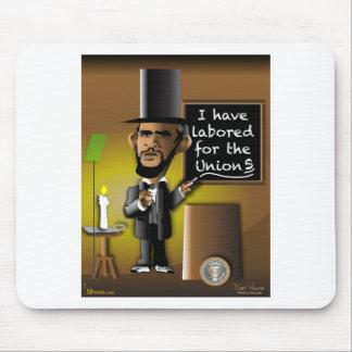 Obama como Lincoln para as uniões Mousepad