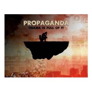 Obama é cheio da propaganda cartão postal