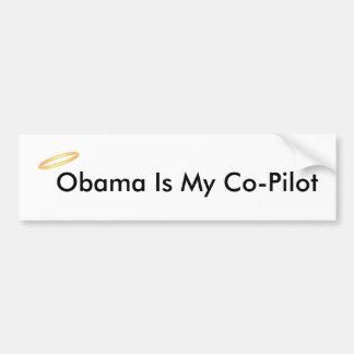 Obama é meu copiloto adesivo para carro