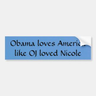 Obama e OJ Adesivo Para Carro