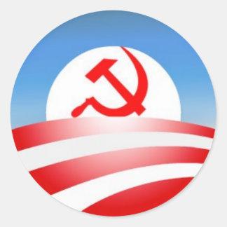 Obama é um comunista adesivos em formato redondos