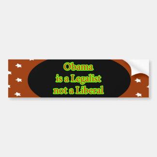 Obama é um jGibney das estrelas de Brown do Adesivo Para Carro