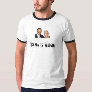 Obama é Wright! Camiseta