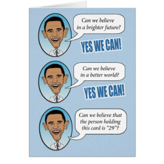 """Obama engraçado """"sim nós podemos"""" cartão de"""