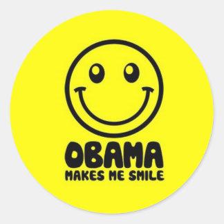 OBAMA faz-me sorrir Adesivo Redondo
