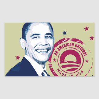Obama - feito nos EUA Adesivo Em Formato Retângular