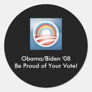 Obama LBGT orgulhoso… Adesivos
