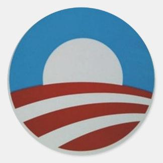 Obama-logotipo Adesivo Redondo