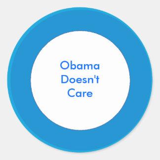 Obama não se importa adesivo em formato redondo