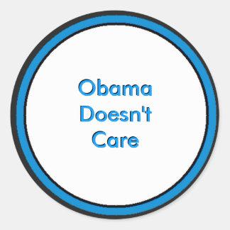 Obama não se importa adesivos em formato redondos