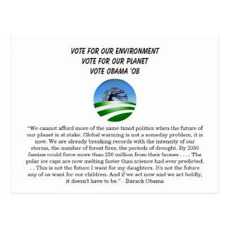 Obama no ambiente cartão postal