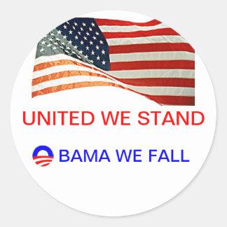 obama nós caímos adesivos em formato redondos