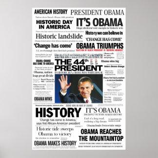 Obama: O 44o presidente Título Colagem Poster
