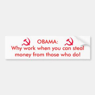 Obama o comunista adesivo para carro