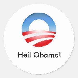 Obama_o_resized Heil Obama Adesivo Redondo