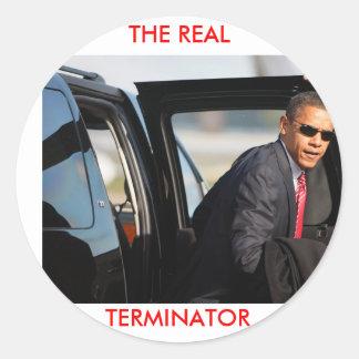Obama - o terminal real adesivos redondos