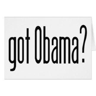 Obama obtido? cartão comemorativo