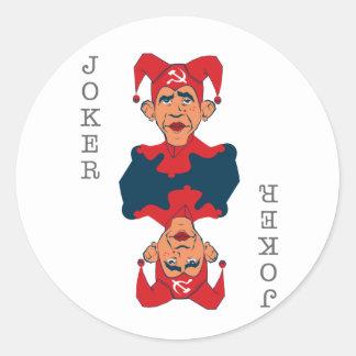 Obama-Palhaço Adesivos Redondos
