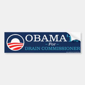 Obama para o comissário do dreno adesivos