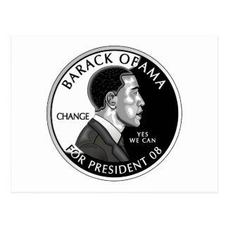 Obama para o presidente cartão (branco)