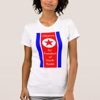 Obama para o presidente da Coreia do Norte T-shirt