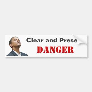 Obama: Perigo claro e atual Adesivo Para Carro