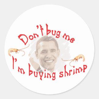 obama shrimp2 adesivo redondo
